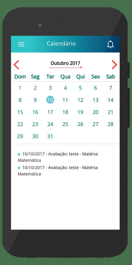 Calendário - Aplicativo Escolar