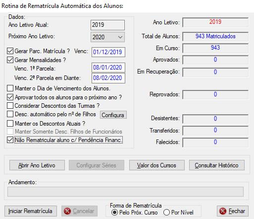 Rematrícula Automática